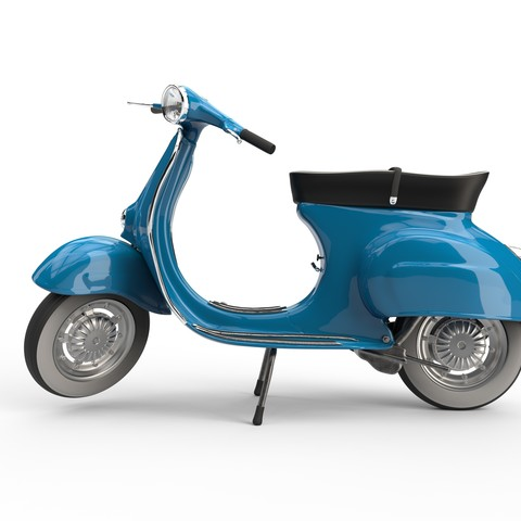 Download OBJ file Vespa 50s  • 3D printer template, udograf