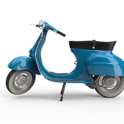 vespa_v06_raw.jpg Download OBJ file Vespa 50s  • 3D printer template, udograf