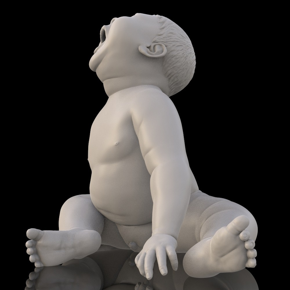 angry_baby_v02_15.jpg Download OBJ file Angry baby improved version • 3D printing design, udograf