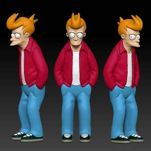 Download STL file Fry from Futurama • 3D printing model, udograf