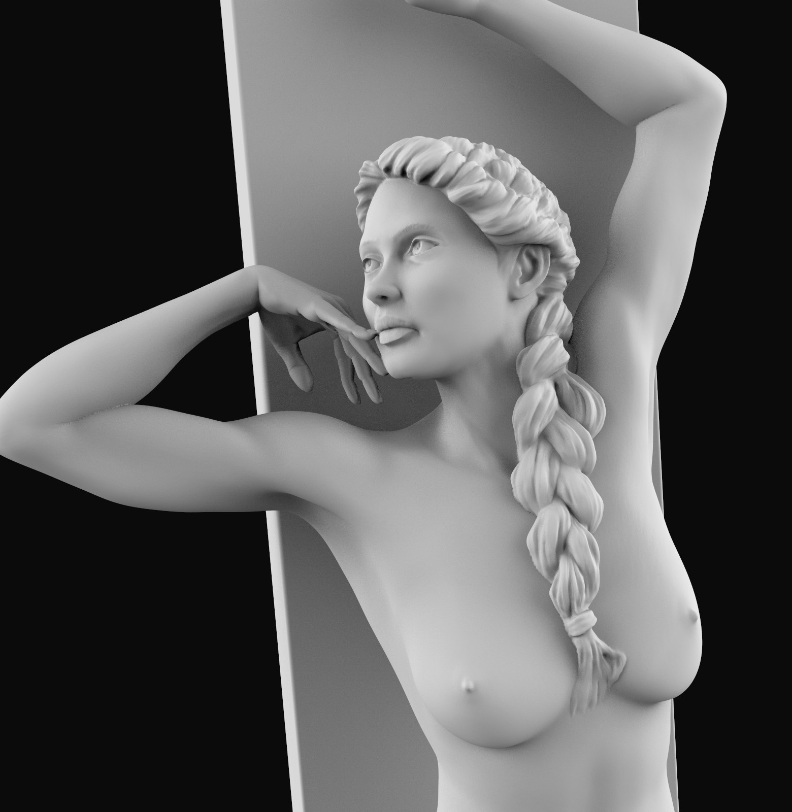 bild10.jpg Download OBJ file Young girl sculpt • 3D printer template, udograf
