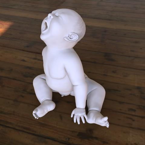 baby03_vorschau..jpg Download OBJ file Angry Baby • 3D printing design, udograf