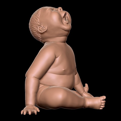 angry_baby_v02_02b.jpg Download OBJ file Angry baby improved version • 3D printing design, udograf