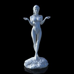 3d printer designs Young girl sculpture, udograf
