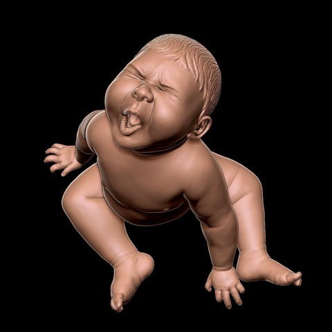 angry_baby_v02_02e.jpg Download OBJ file Angry baby improved version • 3D printing design, udograf