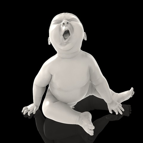 angry_baby_v02_13.jpg Download OBJ file Angry baby improved version • 3D printing design, udograf
