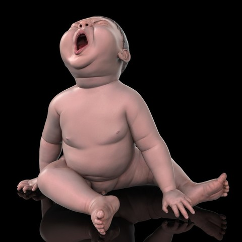 angry_baby_v02_09.jpg Download OBJ file Angry baby improved version • 3D printing design, udograf