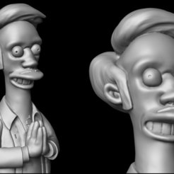 Impresiones 3D Apu from the Simpsons, udograf