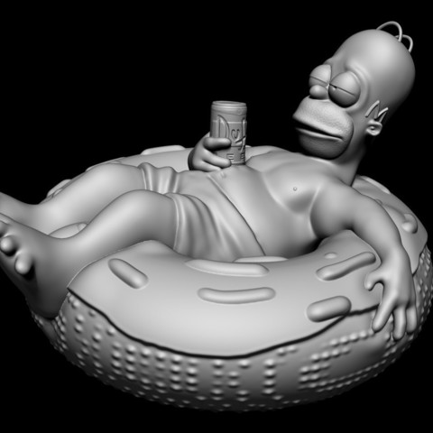 homer_simpson.jpg Download free STL file Homer Simpson • Model to 3D print, udograf