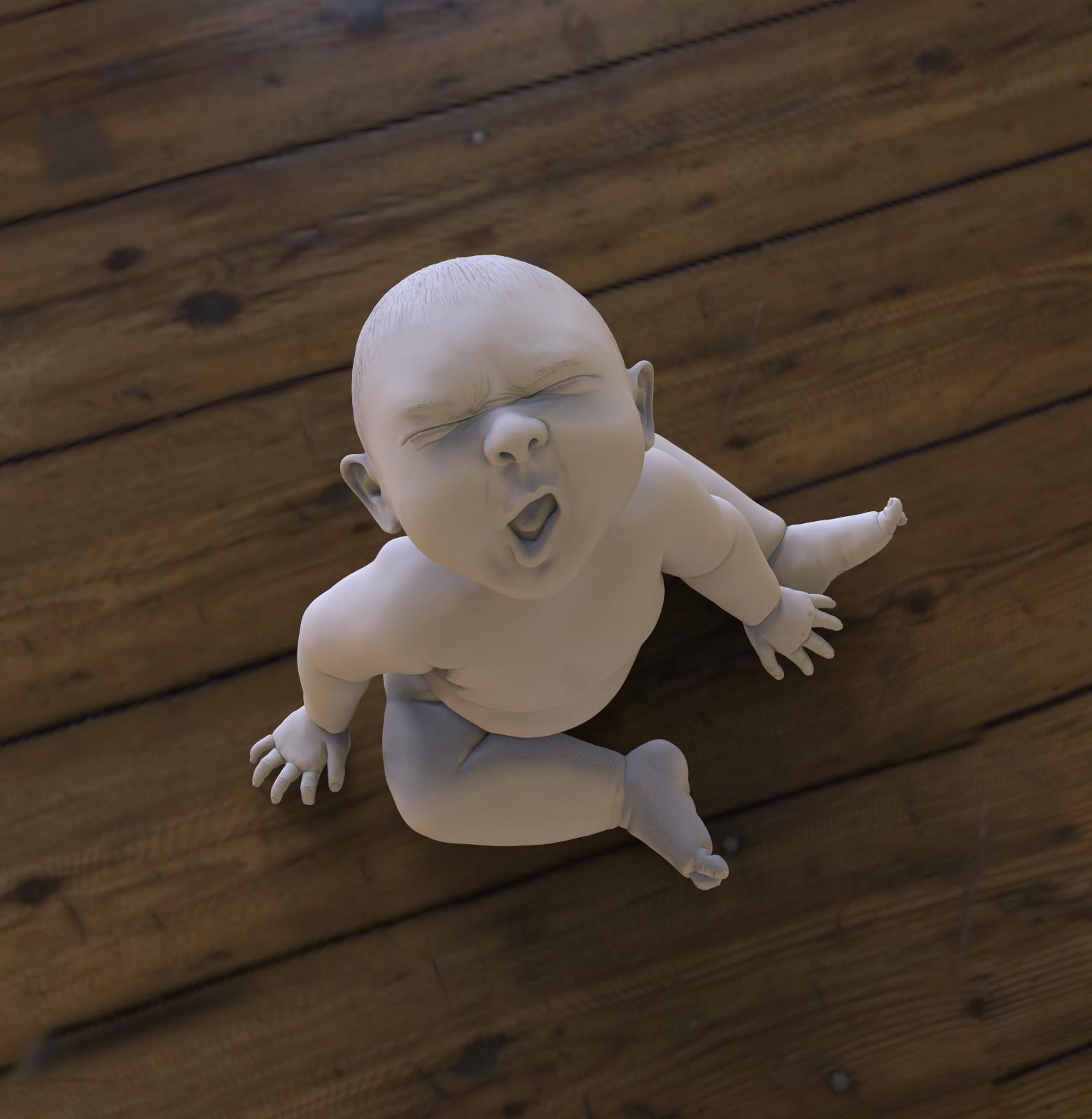 baby06_vorschau..jpg Download OBJ file Angry Baby • 3D printing design, udograf