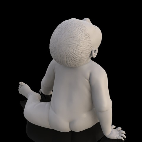 angry_baby_v02_16.jpg Download OBJ file Angry baby improved version • 3D printing design, udograf