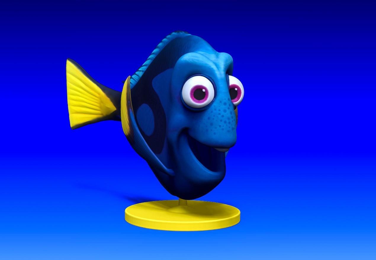 dory_v03.jpg Download STL file Dory 3D Comic Fish • Template to 3D print, udograf