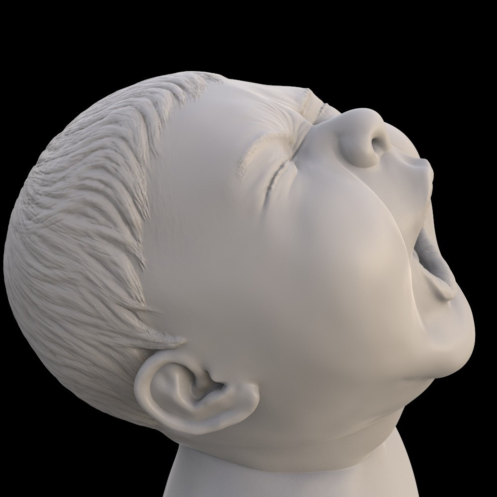 angry_baby_v02_14.jpg Download OBJ file Angry baby improved version • 3D printing design, udograf