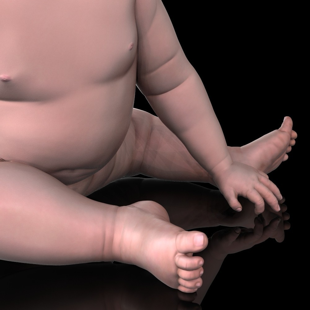 angry_baby_v02_08.jpg Download OBJ file Angry baby improved version • 3D printing design, udograf