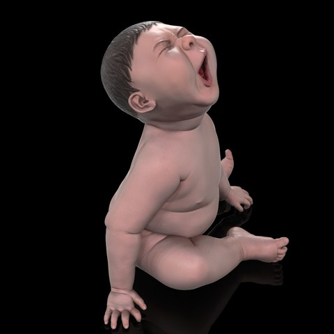 angry_baby_v02_04.jpg Download OBJ file Angry baby improved version • 3D printing design, udograf