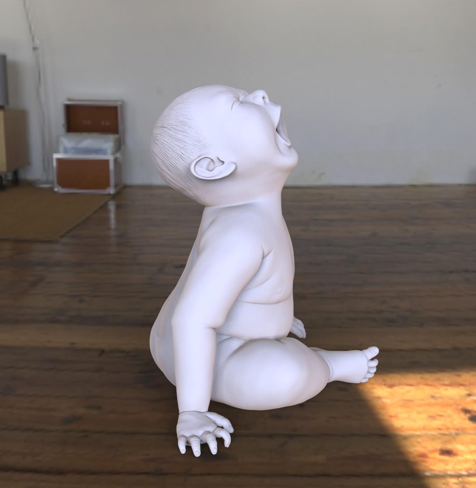 baby05_vorschau..jpg Download OBJ file Angry Baby • 3D printing design, udograf
