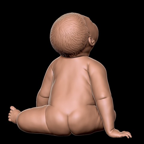 angry_baby_v02_02a.jpg Download OBJ file Angry baby improved version • 3D printing design, udograf