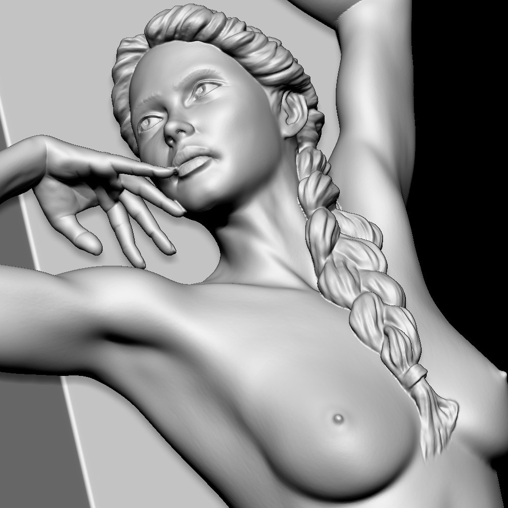bild3.jpg Download OBJ file Young girl sculpt • 3D printer template, udograf