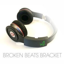 Free Broken Beats Bracket 3D printer file, Avooq