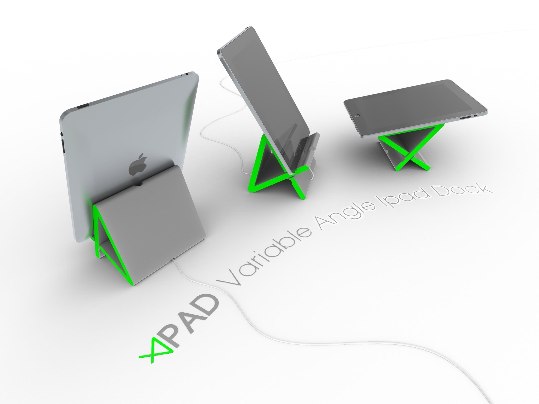 3.jpg Télécharger fichier STL gratuit Apad | Station d'accueil Ipad à angle variable • Modèle à imprimer en 3D, Avooq