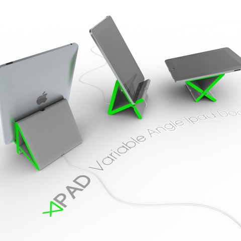 Download free 3D printer model Apad | Variable Angle Ipad Dock, Avooq
