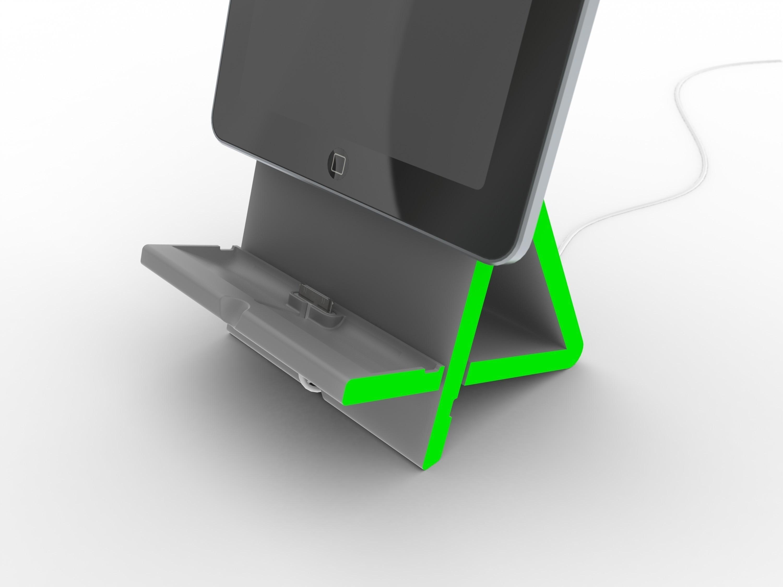 4.jpg Télécharger fichier STL gratuit Apad | Station d'accueil Ipad à angle variable • Modèle à imprimer en 3D, Avooq