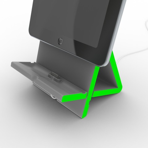 4.jpg Download free STL file Apad   Variable Angle Ipad Dock • 3D printable object, Avooq