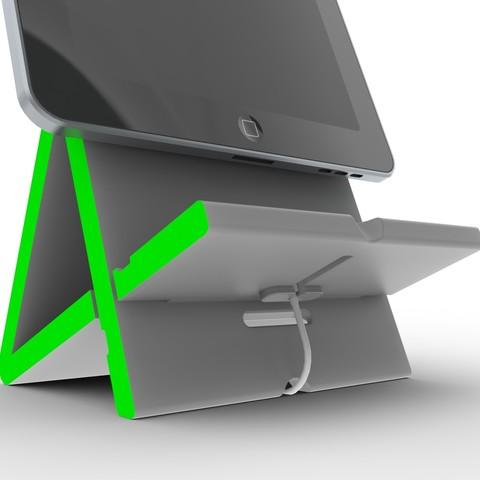 5.jpg Télécharger fichier STL gratuit Apad | Station d'accueil Ipad à angle variable • Modèle à imprimer en 3D, Avooq