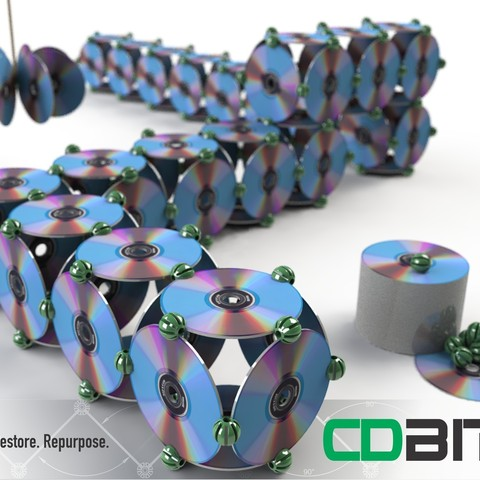 Free stl file CDBITS | Expandable, modular CD and DVD connectors., Avooq