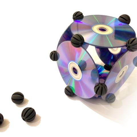 CDBITS_6.jpg Download free STL file CDBITS   Expandable, modular CD and DVD connectors. • 3D printing object, Avooq