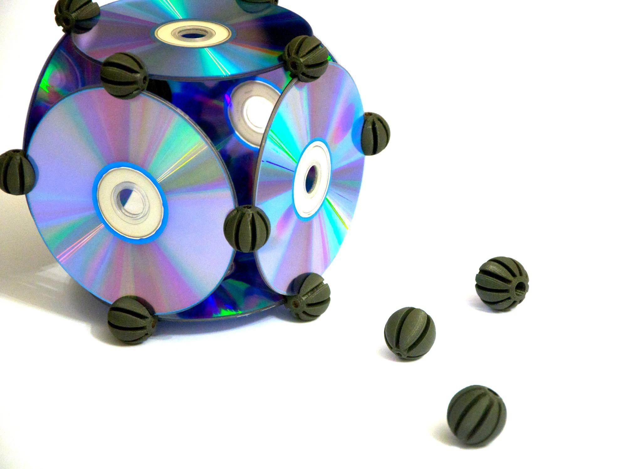 CDBITS_5.jpg Download free STL file CDBITS   Expandable, modular CD and DVD connectors. • 3D printing object, Avooq
