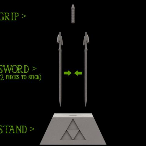 master sword ocarina of time 3d model � cults