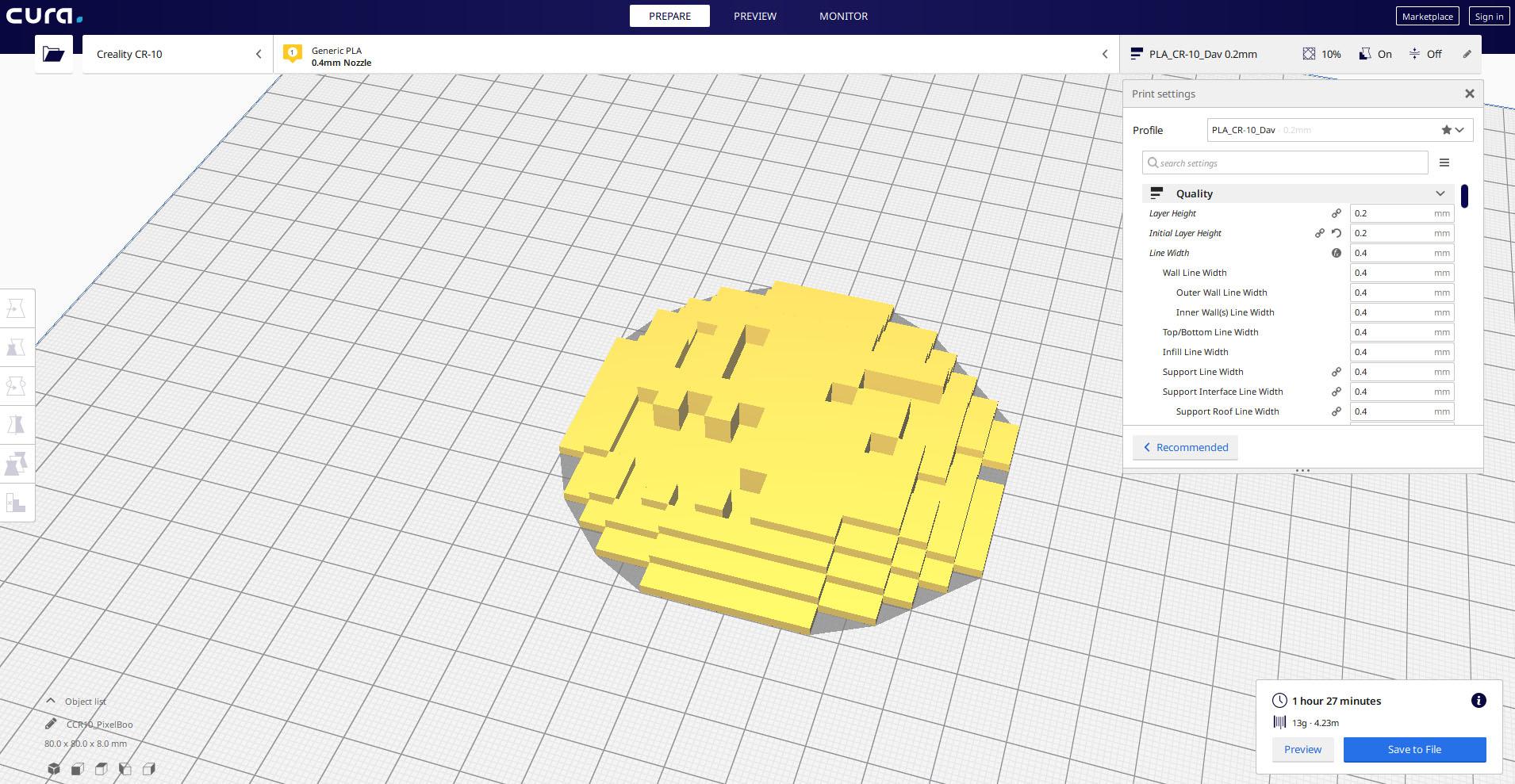 2dBooCURA.jpg Télécharger fichier STL gratuit Pixel Boo • Modèle imprimable en 3D, Shigeryu