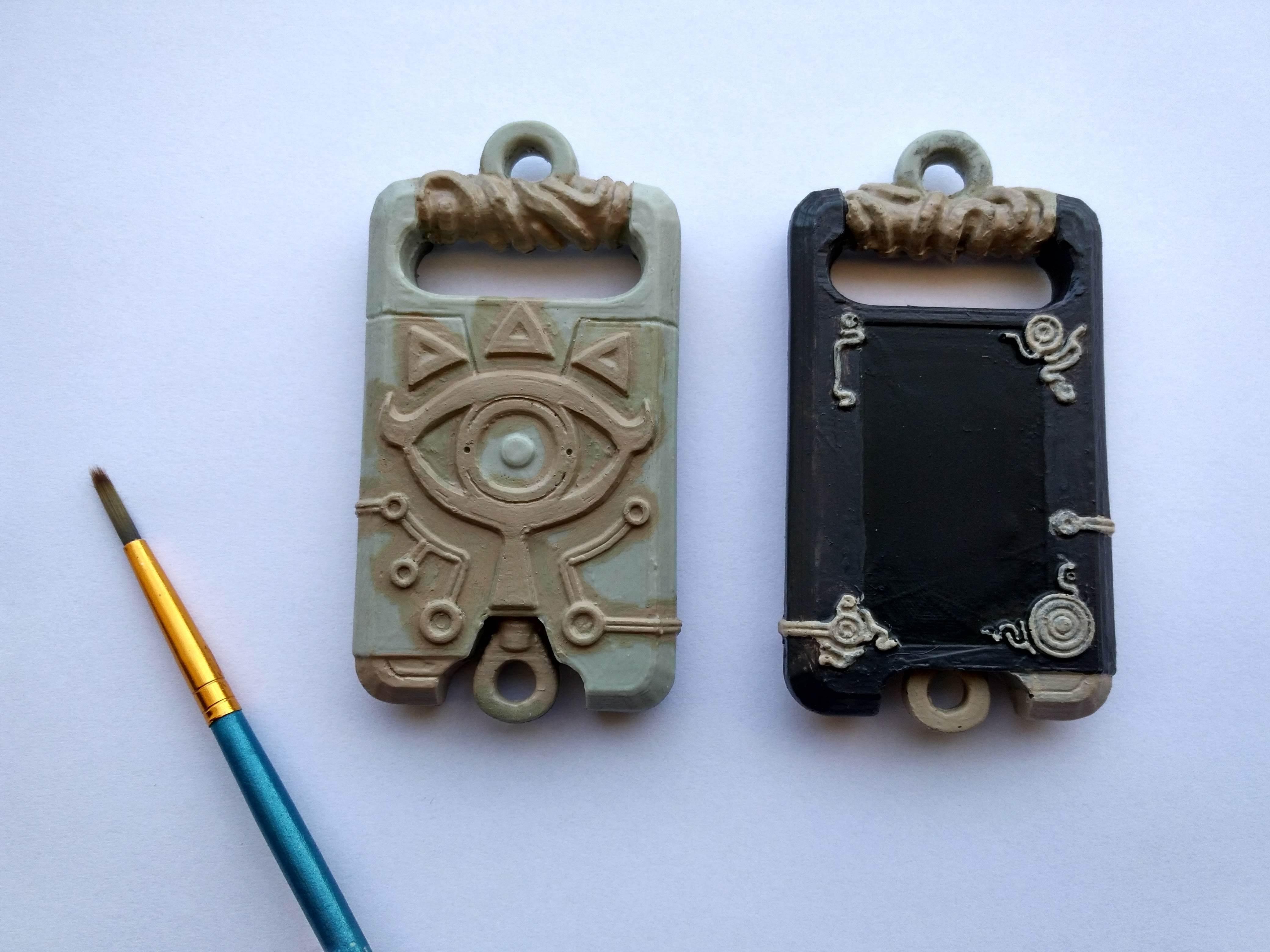 IMG_20181007_164810.jpg Download STL file Sheikah slate Keychain version (Keychain) • 3D print design, Shigeryu