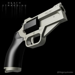 DSWellMax.jpg Download STL file Death Stranding Pistol • 3D printable model, Shigeryu