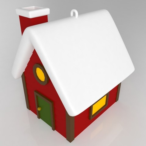 house2.jpg Download STL file Pack décoration pour Noël • 3D printable model, Shigeryu
