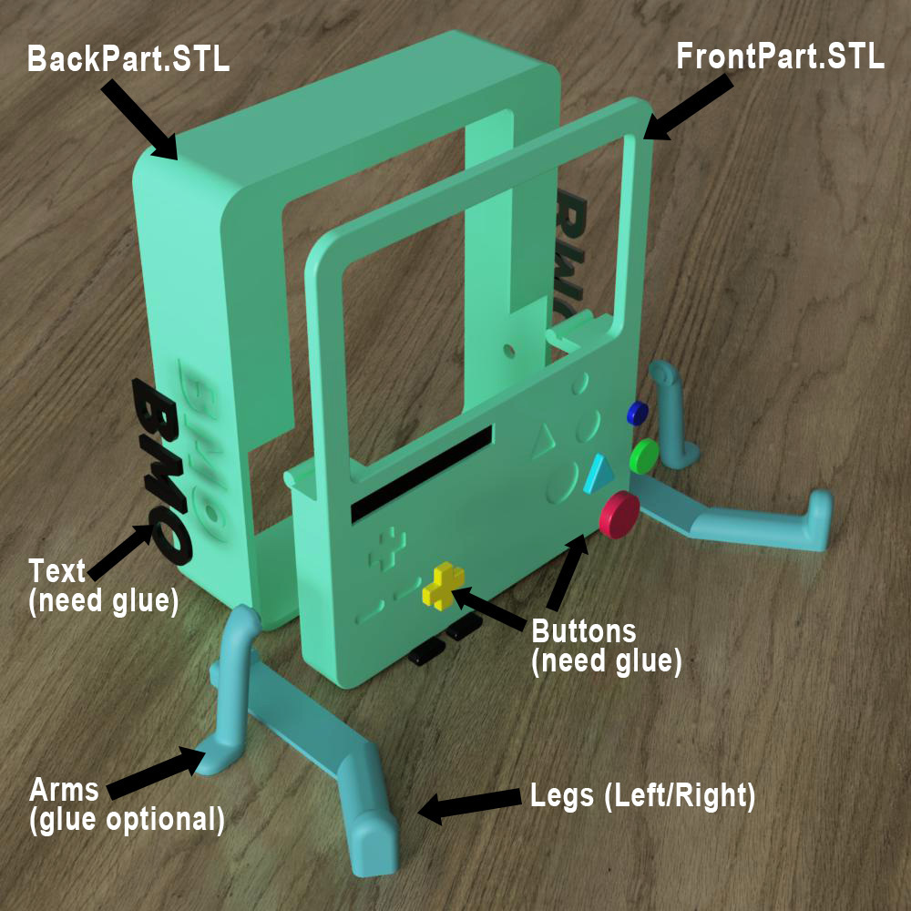 BMO_Stand(tuto).jpg Download STL file BMO Stand for Nintendo switch • 3D printing template, Shigeryu