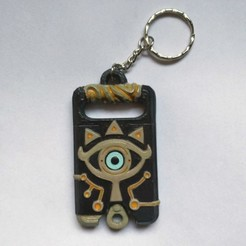 Finish2.jpg Download STL file Sheikah slate Keychain version (Keychain) • 3D print design, Shigeryu