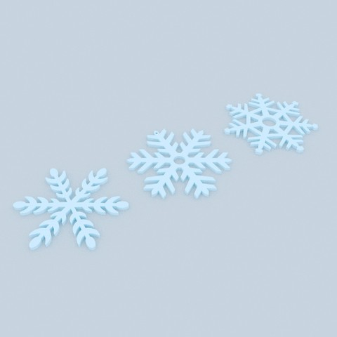 Snowflaks.jpg Download STL file Pack décoration pour Noël • 3D printable model, Shigeryu