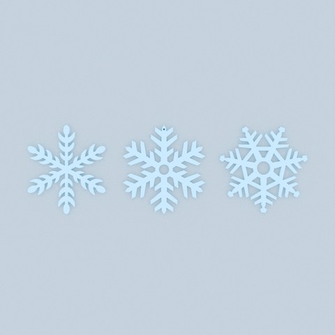 Snowflaks2.jpg Download STL file Pack décoration pour Noël • 3D printable model, Shigeryu