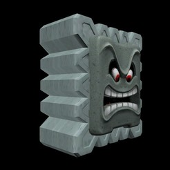 Objet 3D Thwomp (Super mario bros), Shigeryu