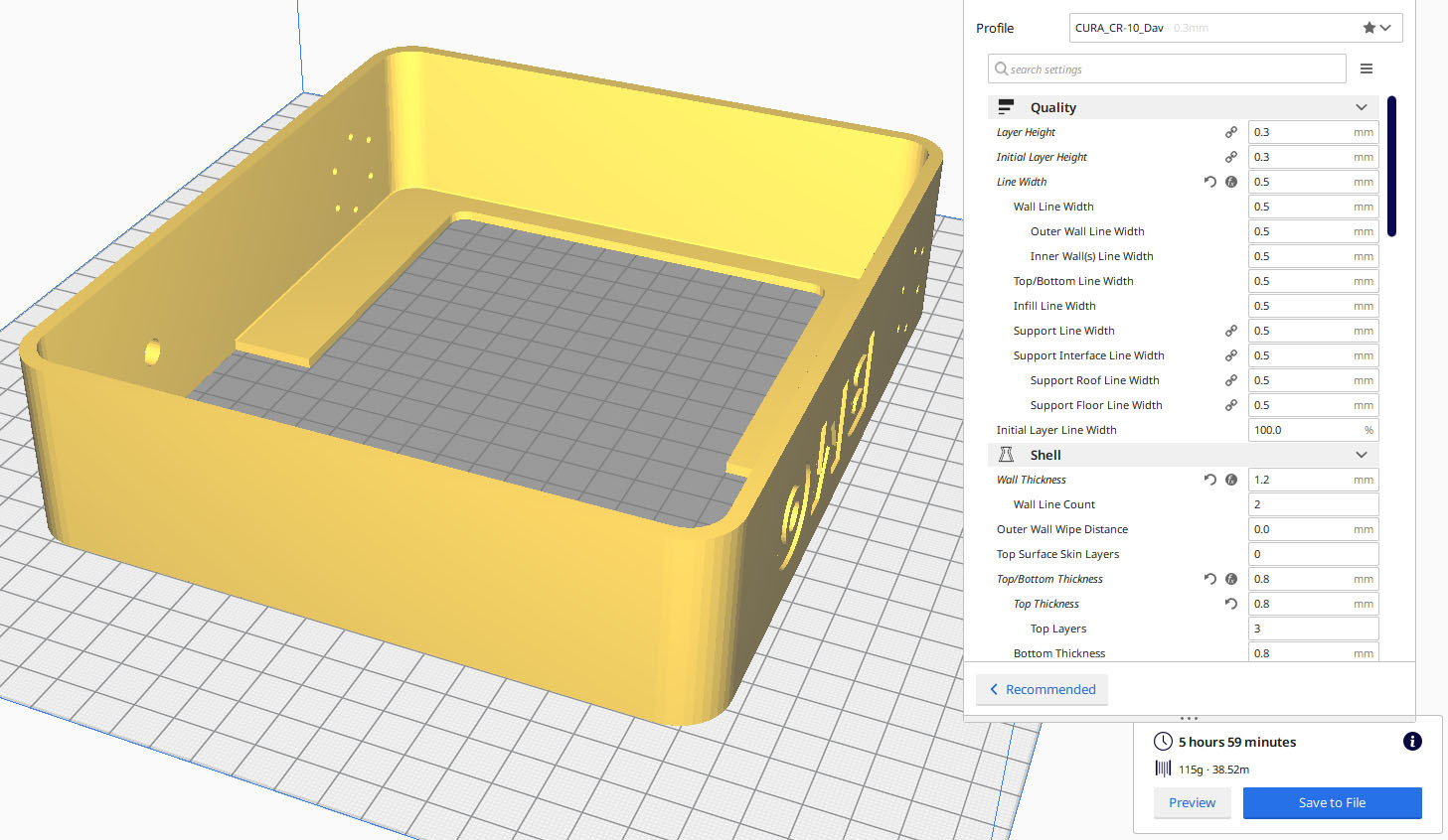 CURA_BackPart.jpg Download STL file BMO Stand for Nintendo switch • 3D printing template, Shigeryu