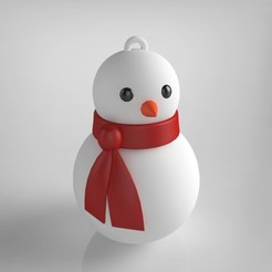 Snowman.jpg Download STL file Bonhomme de neige (ornement pour noël) • Model to 3D print, Shigeryu