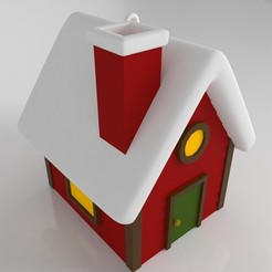 house.jpg Download STL file Maison pour sapin de Noël (ornement) • 3D print design, Shigeryu