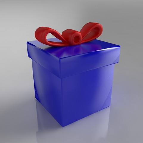 Download STL file Cadeau (ornement pour sapin) • 3D printer model, Shigeryu