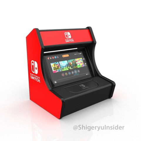3D printer models Nintendo switch Arcade stand retro, Shigeryu