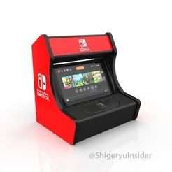 3d printer designs Nintendo switch stand retro, Shigeryu