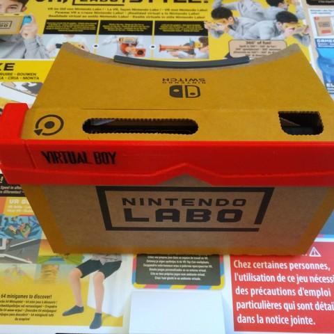 "Vrboy02.jpg Download STL file Nintendo labo vr-kit ""VirtualBoy"" customization accessory • Model to 3D print, Shigeryu"