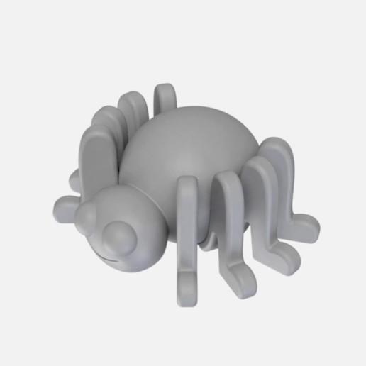 AraignéeG.jpg Download free STL file Small spider • Model to 3D print, Shigeryu
