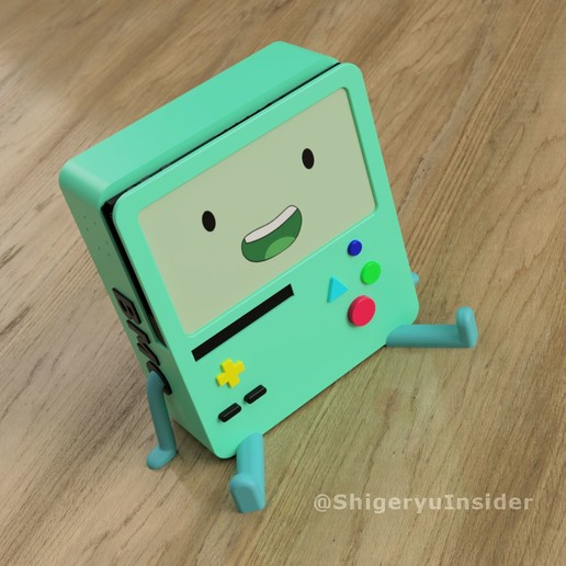 bmofakescreenjpg.jpg Download STL file BMO Stand for Nintendo switch • 3D printing template, Shigeryu